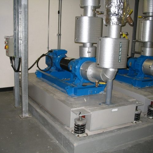Spring Mounted Bases Supporting Industrial Plant Mason Uk