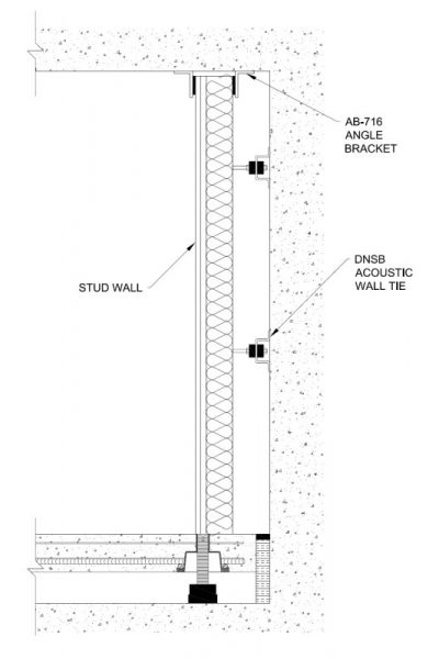 Cross section of an isolated partition wall