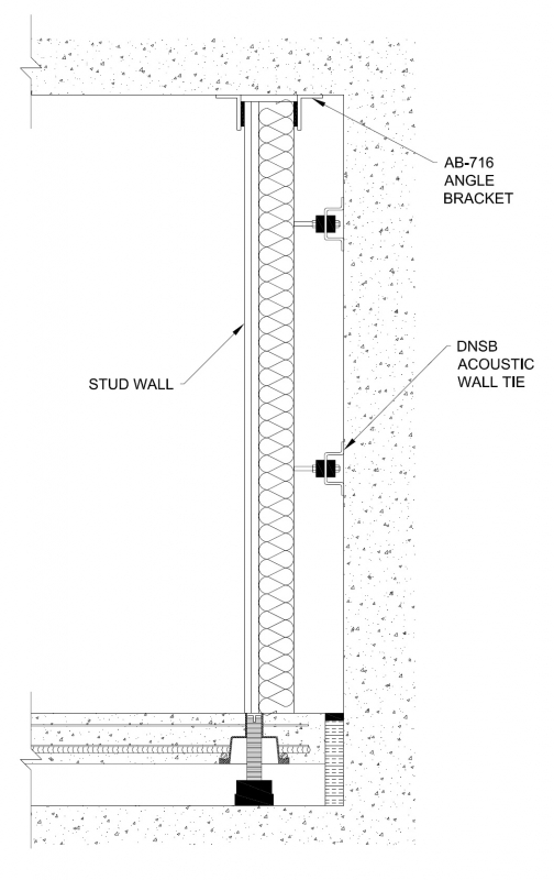 Cross Section Of An Acoustically Isolated Partition Wall